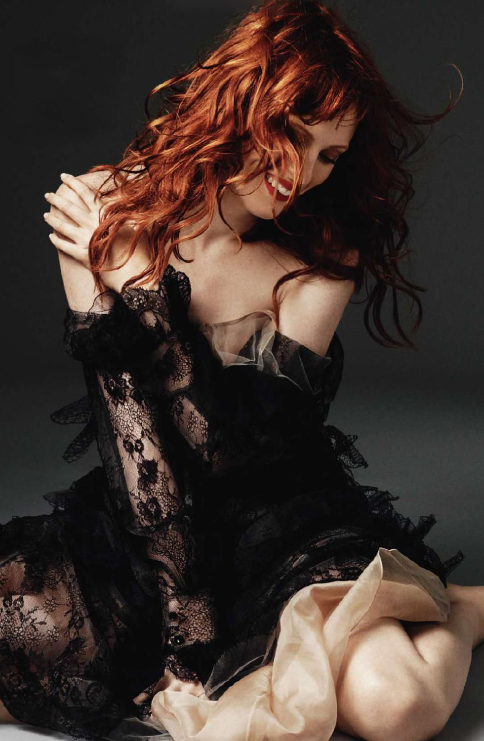 via fashioned by love | Karen Elson in Hed Hot | Harper's Bazaar UK October 2010 (photography: Alexi Lubomirski, styling: Sophia Neophitou-Apostolou)