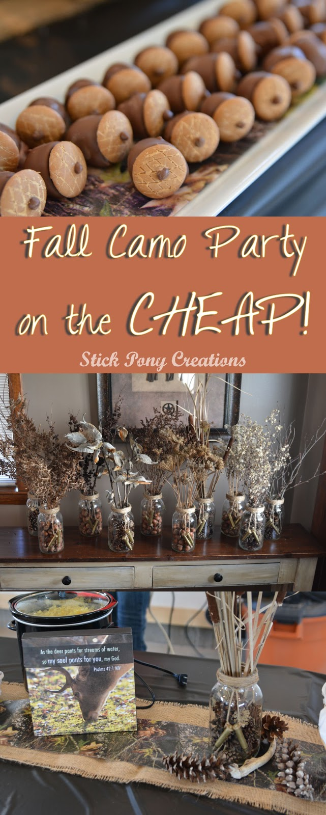 Stick Pony Creations Fall Camo Party On The Cheap