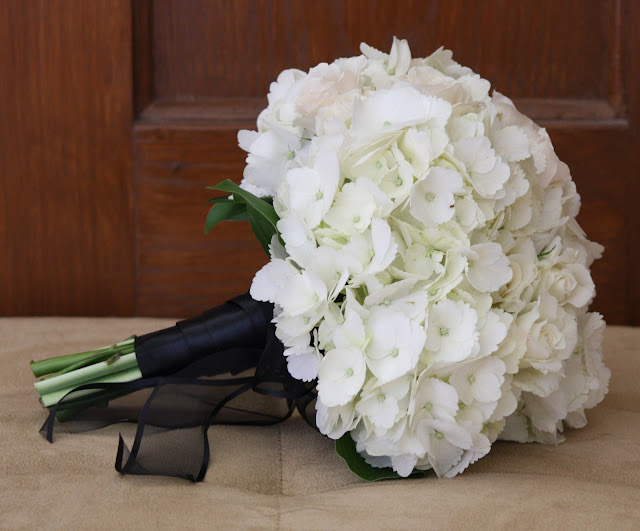 White Hydrangea Bouquet - Franklin Plaza - Splendid Stems Event Florals