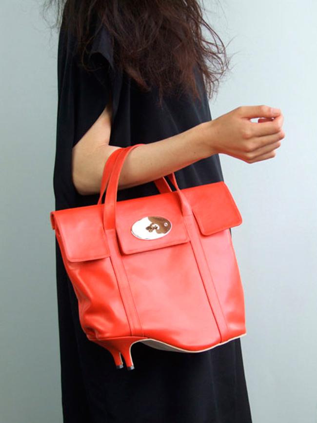 azumi and david, made in london, shoe bag