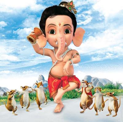 Balganapathy dancing with vahana mooshika