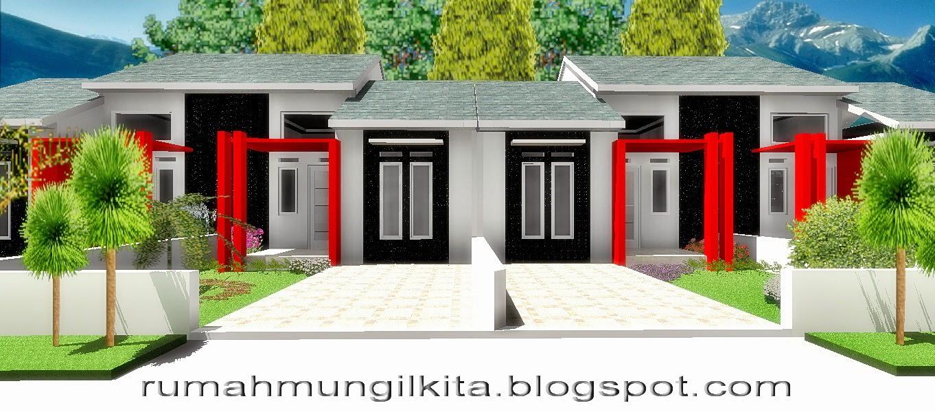 Desain Rumah Minimalis Tipe 30 Tanah 72 m2 - Tampak Depan