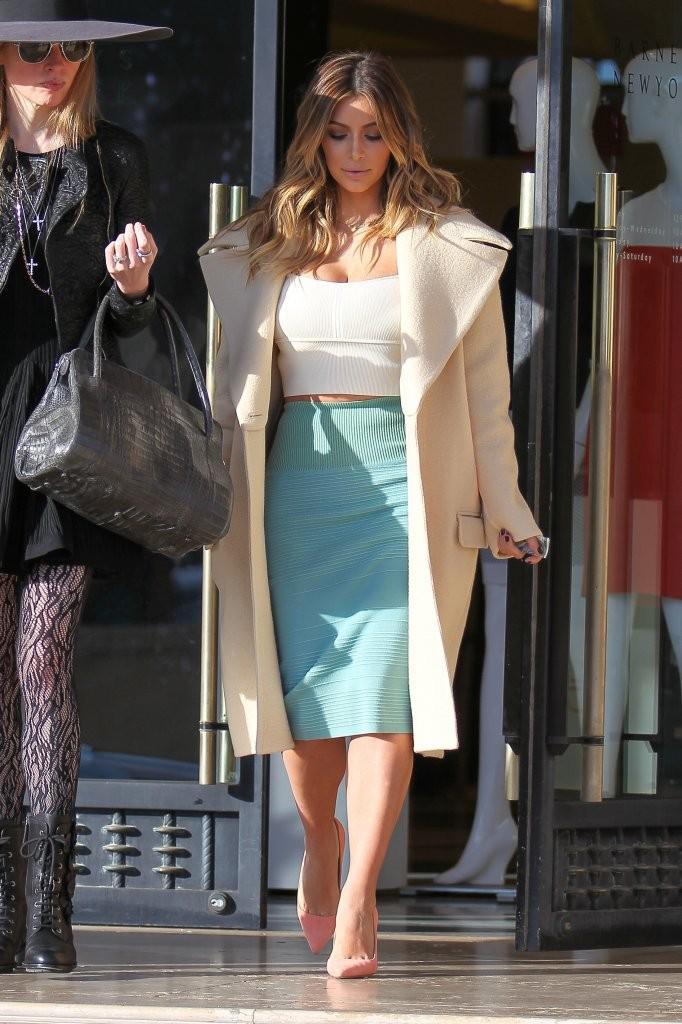Kim Kardashian Celine Coat