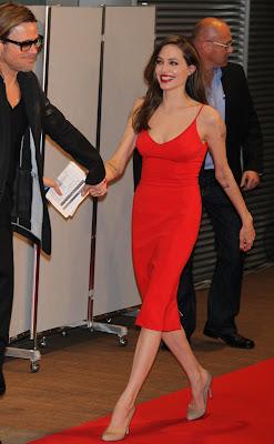 "Angelina Jolie & Brad Pitt at ""Moneyball"" premiere"