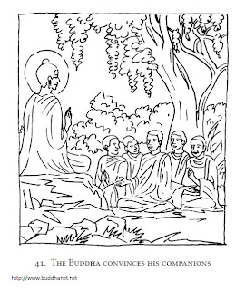 For sharing knowledge colouring the story of buddha for Buddha coloring pages