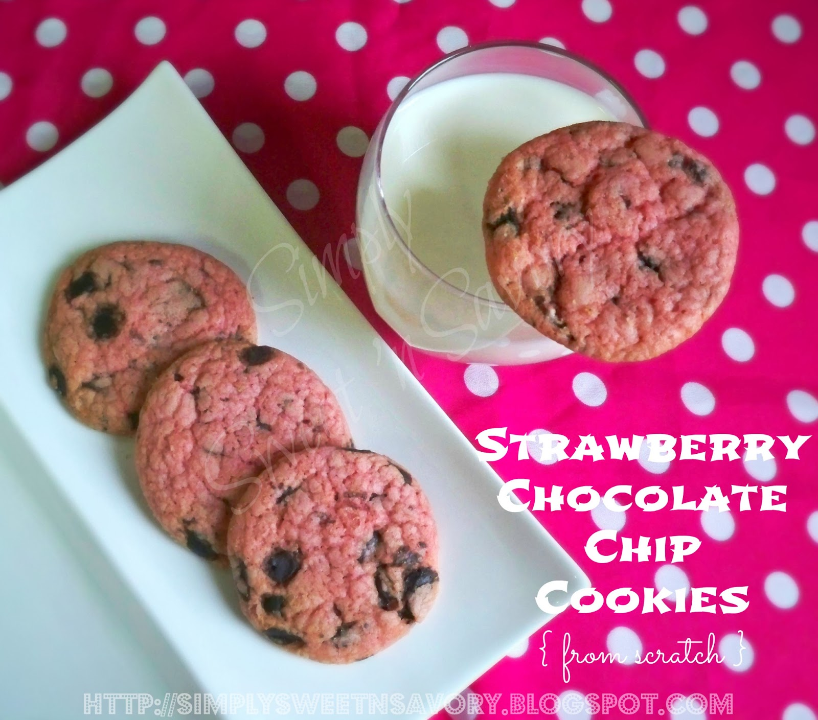 how to make strawberry cookies from scratch