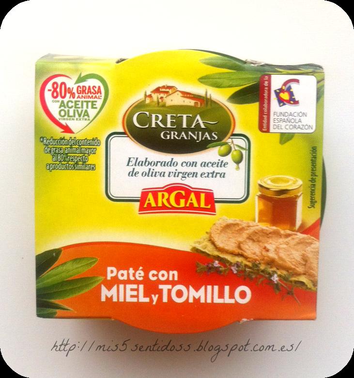 Argal Paté Creta Granjas Miel y Tomillo