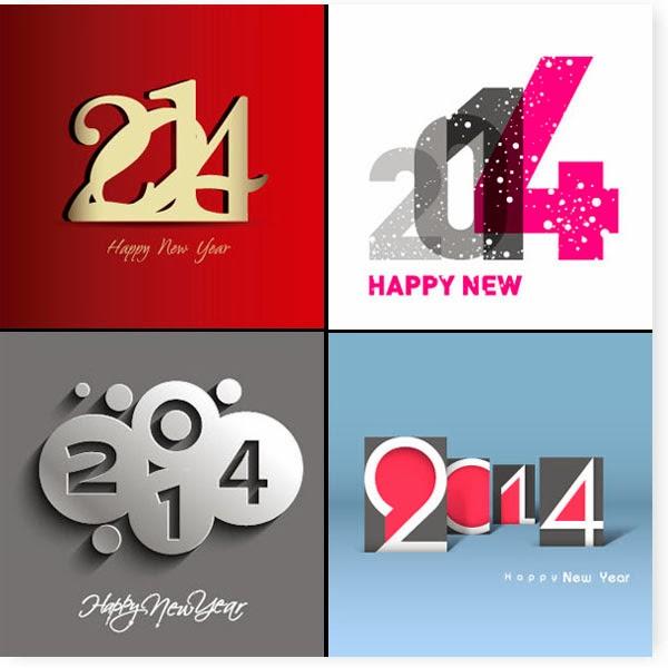 Logos del año 2014 - Vector