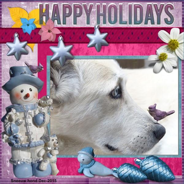 Dec.15 Sneeuw hond