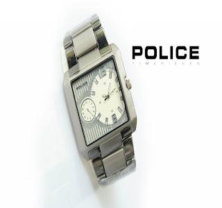jam tangan keren POLICE PL-850 BLACK-SILVER
