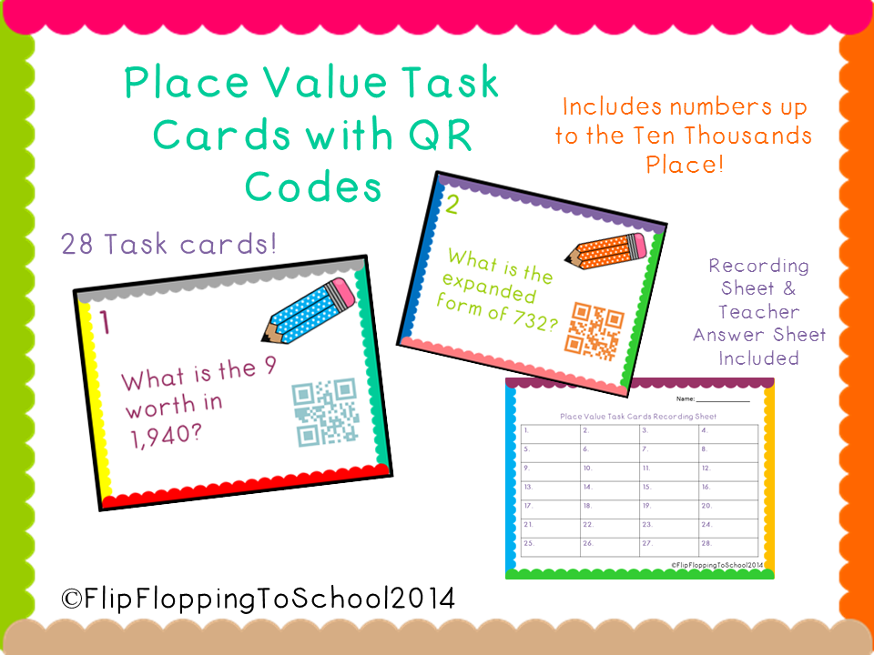 http://www.teacherspayteachers.com/Product/Place-Value-Task-Cards-with-QR-Codes-to-Ten-Thousand-1357948