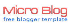 Microblog Blogger Template