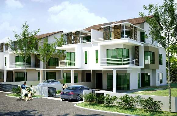 Singapore modern homes exterior designs pictures