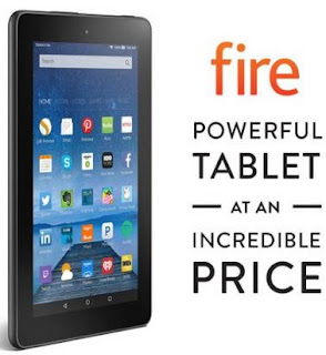 Amazon Fire Tablet 7, tablet, Amazon, games, movies