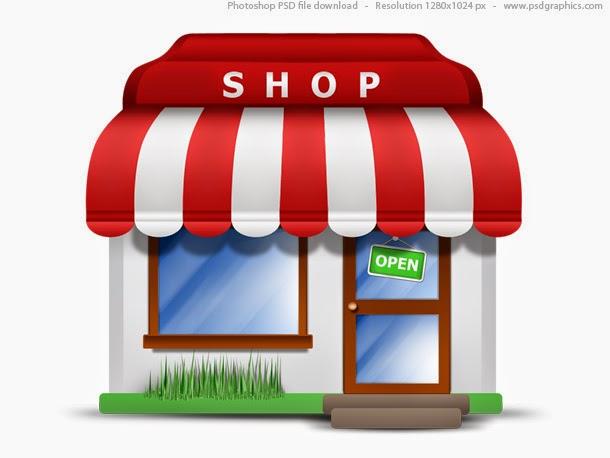 Small Store Icon PSD