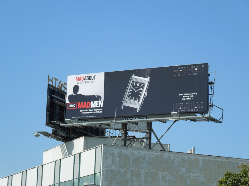 Mad Men Reverso watch billboard