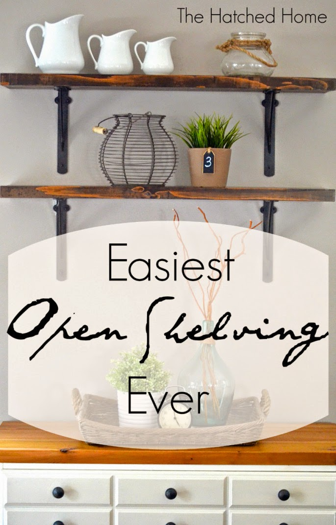 easy open shelving tutorial