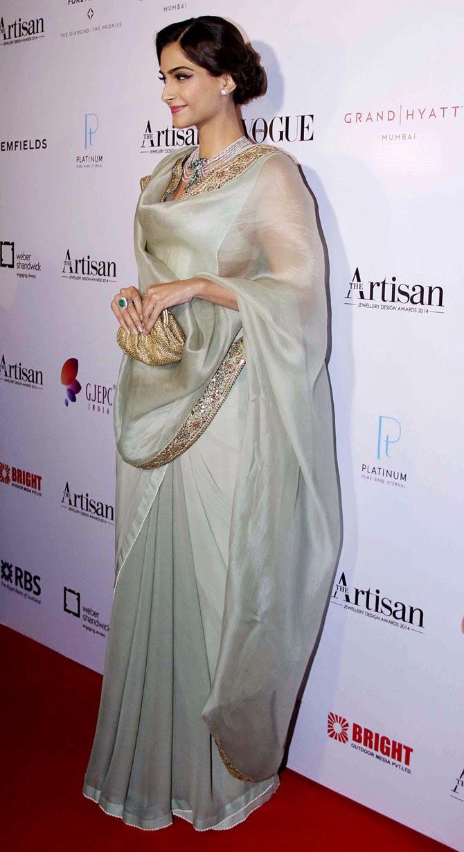 Sonam Kapoor Channels Vintage Glamour in Anamika Khanna Saree