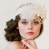 Bridal headband from Twigs and Honey