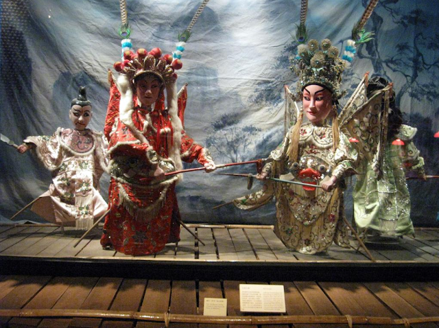 An art model inside Hong Kong Museum of History
