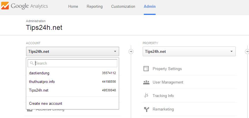 Hướng dẫn xóa bỏ tài khoản Google Analytics
