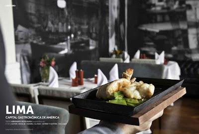 Gastronomía en Lima. Revista Top Viajes