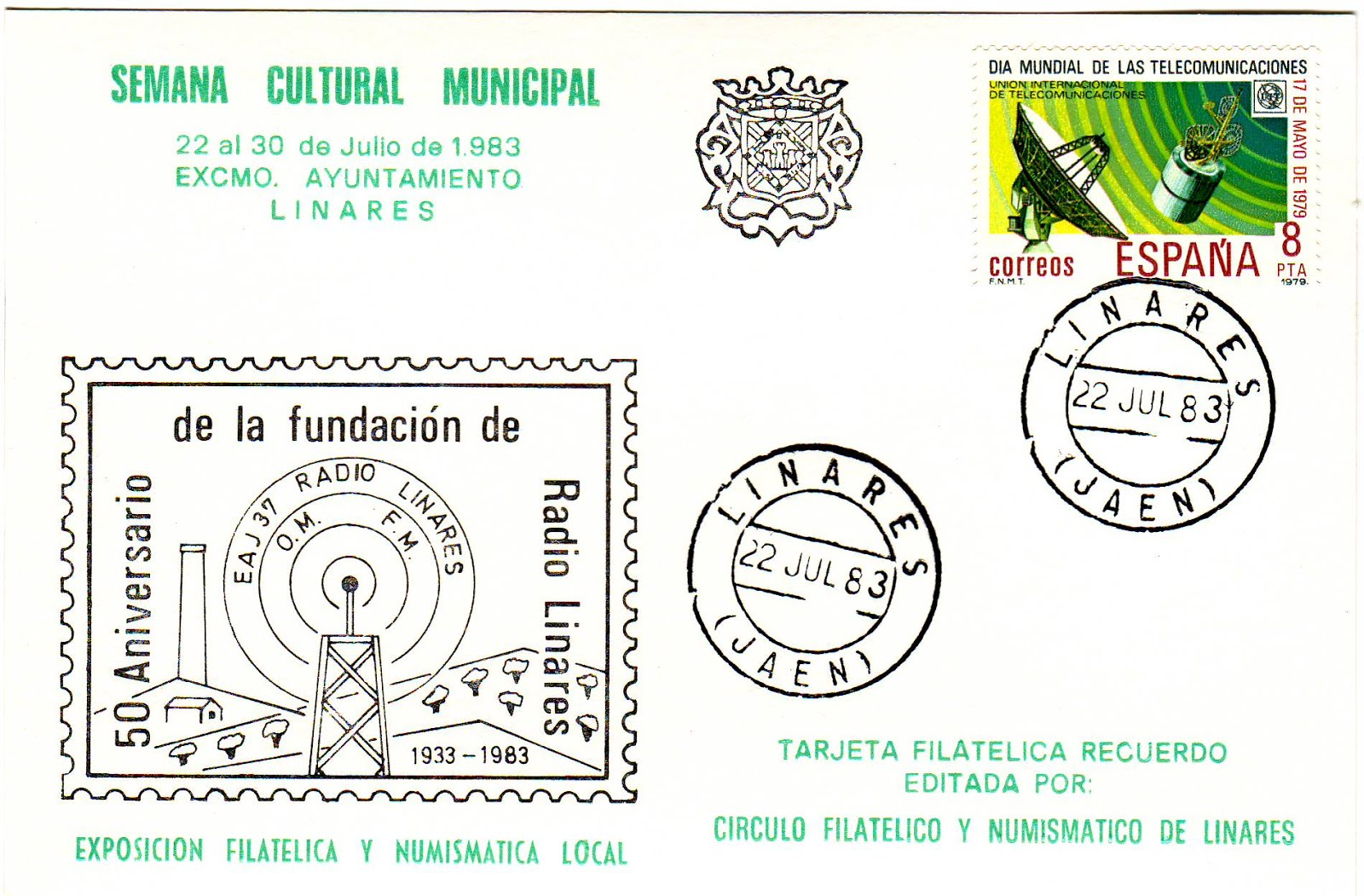 LA FILATELIA EN LA EMISORA EAJ37, RADIO LINARES, DE LA CADENA S.E.R.
