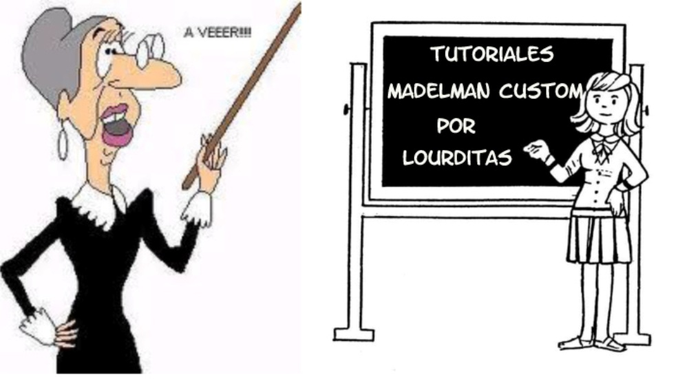 Tutoriales   madelman custom por  Lourditas