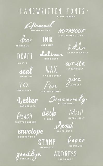 http://asubtlerevelry.com/25-handwritten-fonts