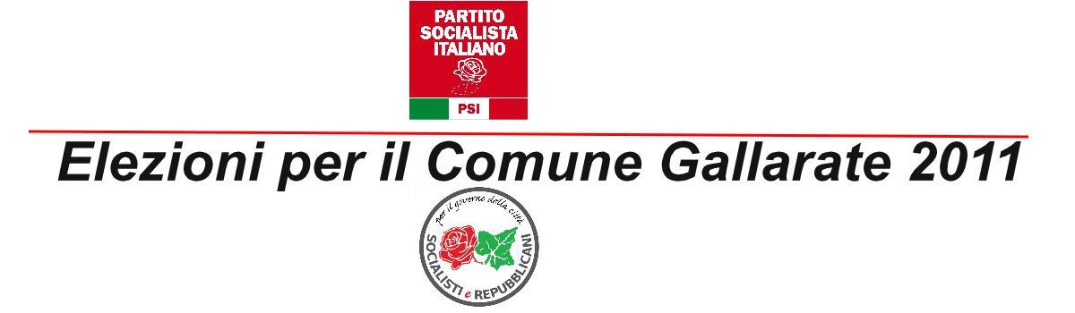 PSI  Gallarate - Elezioni comunali 2011