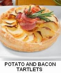 POTATO AND BACON TARTLETS