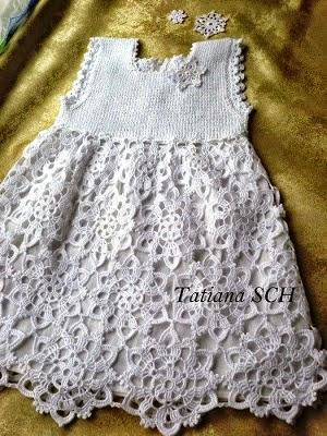 Vestido para niña para bautismo con patron