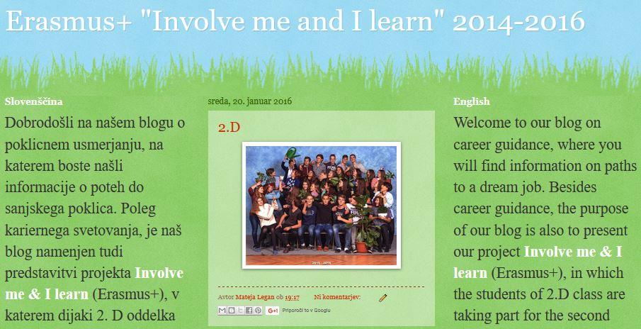 Domača stran Erasmus+ 2.D