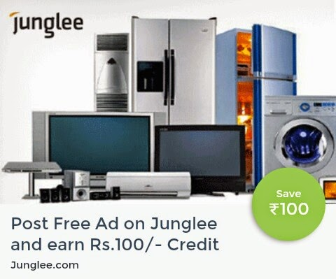 Earn Rs 100 Freecharge Wallet Credits for Posting Ads on Junglee