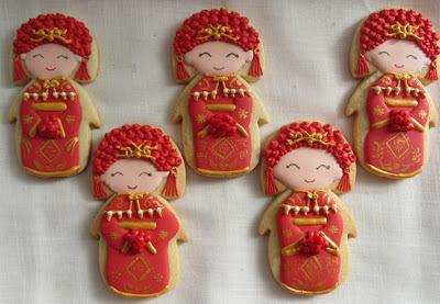 Galletas decoradas-China con traje de boda