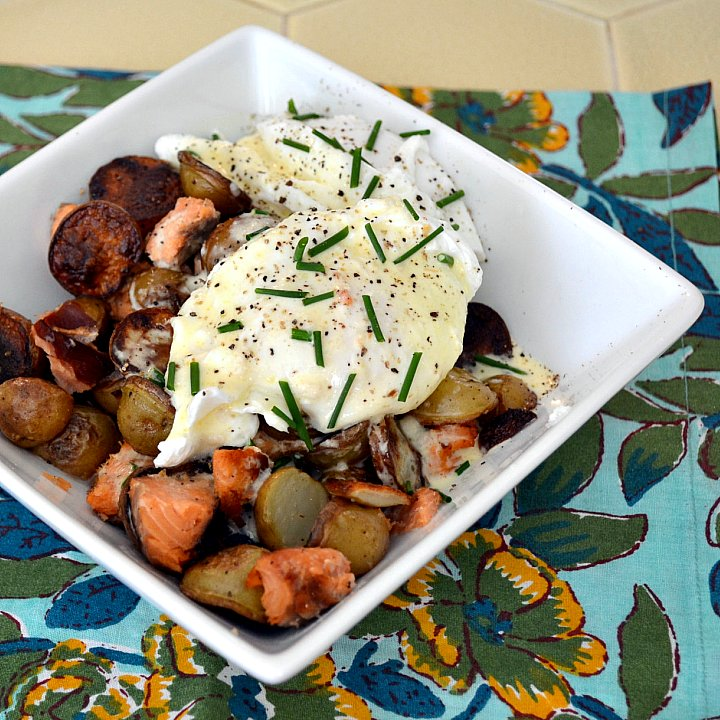 The Foodie Couple: Smoked Salmon Hash with Poached Eggs and ...