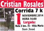 7k homenaje a Cristian Rosales en Villa María (San José, 01/nov/2014)