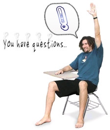 a students raising his hand to ask a question