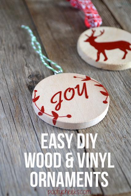 Handmade Chistmas Ornament - DIY Wood and Vinyl Ornamentsa