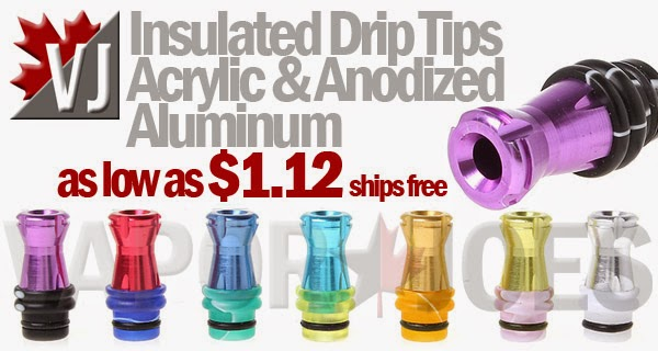 Anodized Aluminum & Acrylic Hybrid  Insulated 510 Drip Tips