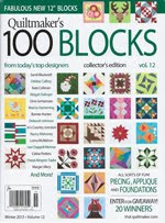 FIND BLUE RIBBON DESIGNS IN QUILTMAKER'S 100 BLOCKS, VOL 12 - NOVEMBER 2015