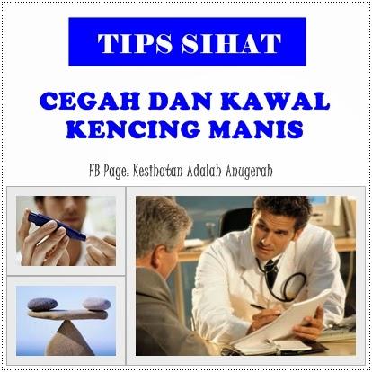 Tips lelaki sihat, cegah dan kawal kencing manis