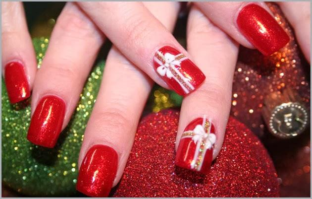 Tendências de unhas decoradas de Natal 2013