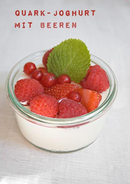 Quark-Joghurt mit Beeren