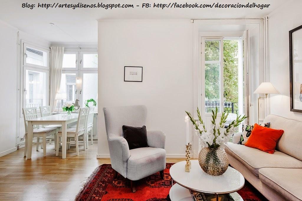Sala elegante de color blanco decoraci n del hogar for Paginas de decoracion de interiores gratis