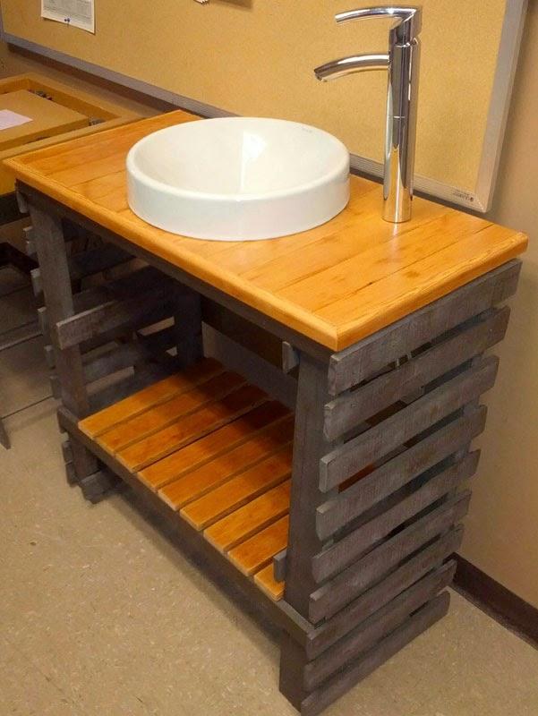 Muebles Para Baño Hechos Con Palets: net: Fantástico lavamanos para el baño hecho de palets