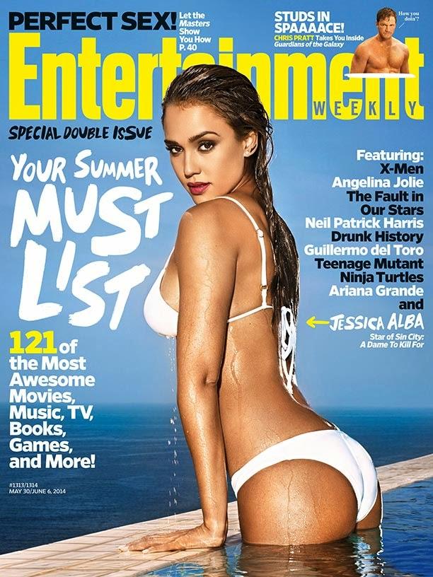 Jessica Alba covers Entertainment Weekly in a white bikini