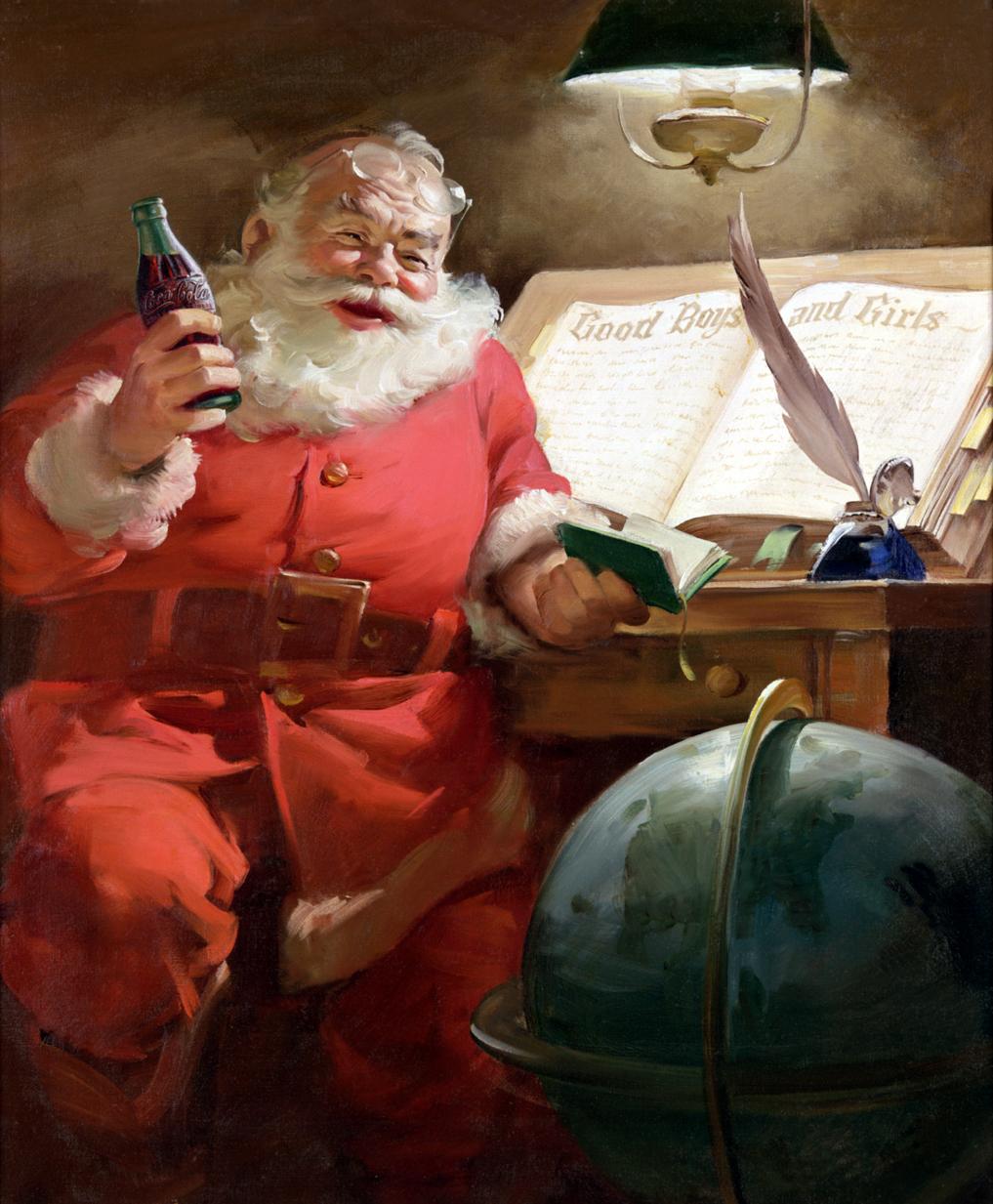 coke lore santa 1951