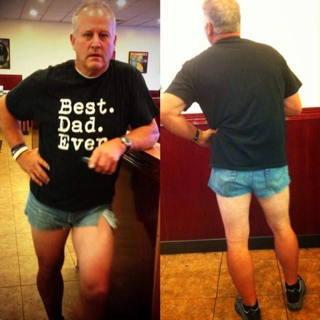 menina,pai,shorts,melhor pai de todos os tempos