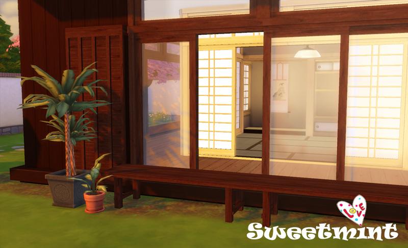 My sims 4 blog japanese style windows doors seating and for Japanese style windows